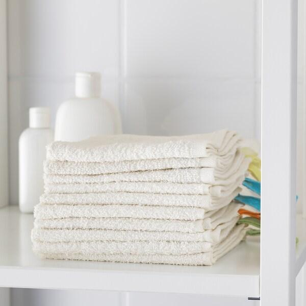 "KRAMA Washcloth, white, 12x12 """