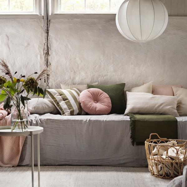 "KRANSBORRE Cushion, light pink, 16 """