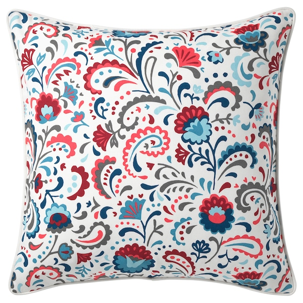 "KRATTEN cushion cover white/multicolor 20 "" 20 """