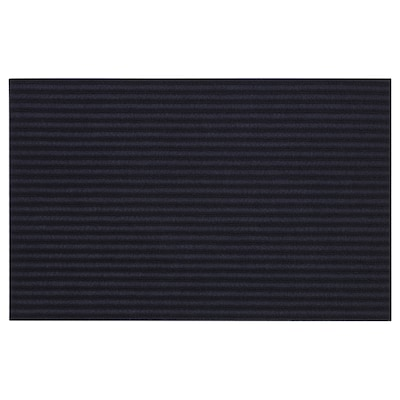 "KRISTRUP Door mat, dark blue, 1 ' 2 ""x1 ' 10 """