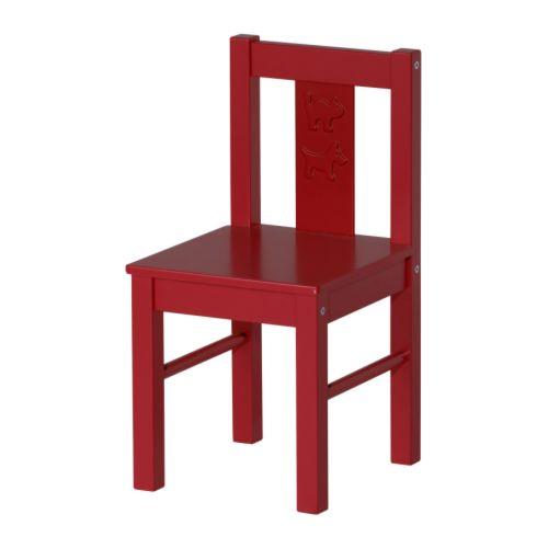 KRITTER Children's chair - red - IKEA