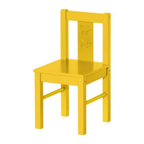 KRITTER Children's chair - yellow - IKEA