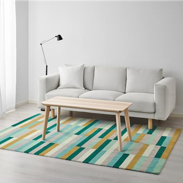 "KRÖNGE Rug, low pile, handmade/multicolor, 5 ' 7 ""x7 ' 10 """