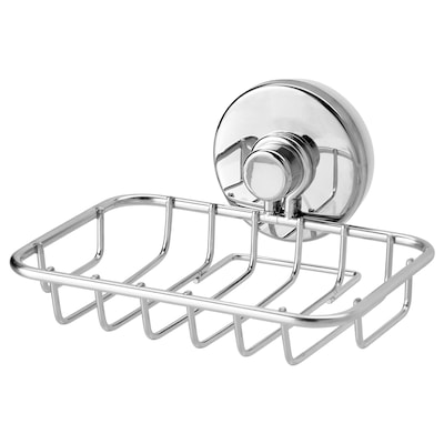 KROKFJORDEN Soap dish with suction cup, zinc plated