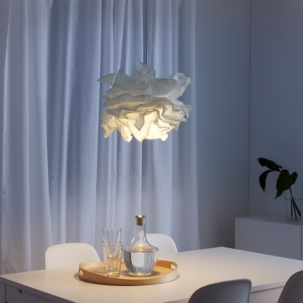 "KRUSNING pendant lamp shade white 17 "" 17 """