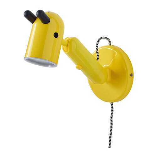 KRUX LED wall lamp, yellow yellow -