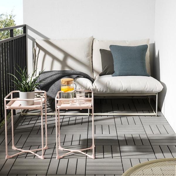 "KRYDDPEPPAR Plant stand, indoor/outdoor pink, 21 ¼ """