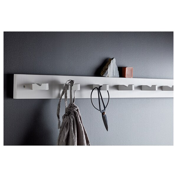 Kubbis Rack With 7 Hooks White Ikea