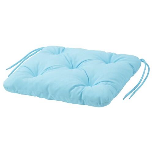 "KUDDARNA chair pad, outdoor light blue 14 1/8 "" 12 5/8 "" 2 3/8 """