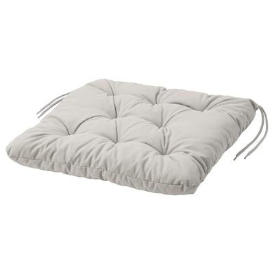 "KUDDARNA Chair pad, outdoor, gray, 17 3/8x17 3/8 """