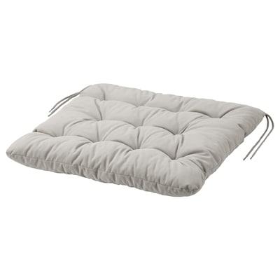 "KUDDARNA Chair pad, outdoor, gray, 19 5/8x19 5/8 """