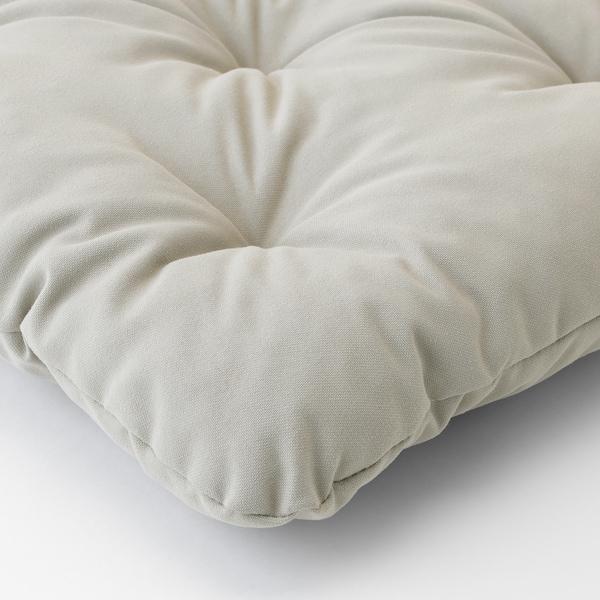 "KUDDARNA Chair pad, outdoor, gray, 14 1/8x12 5/8 """