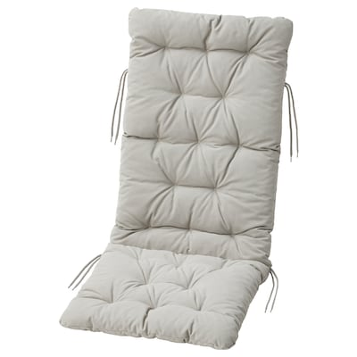 "KUDDARNA Seat/back pad, outdoor, gray, 45 5/8x17 3/4 """