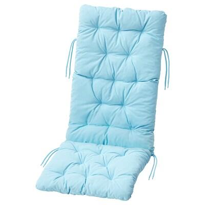 "KUDDARNA Seat/back pad, outdoor, light blue, 45 5/8x17 3/4 """