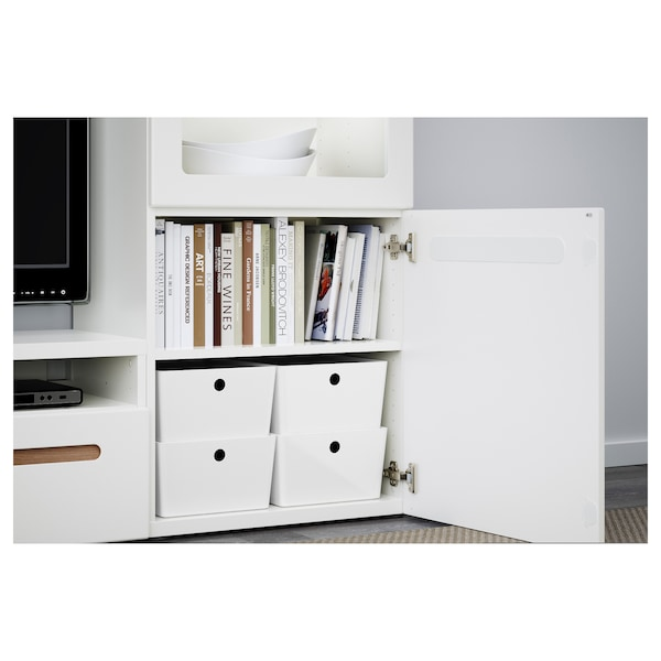 "KUGGIS Box with lid, white, 10 ¼x13 ¾x6 """