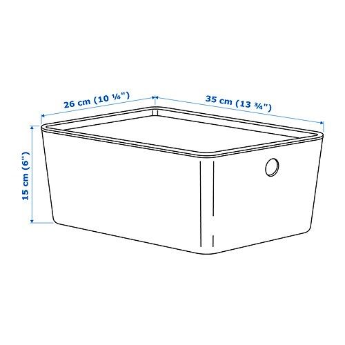 KUGGIS Storage box with lid IKEA Perfect for storing paper, stationery or media accessories.