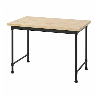 "KULLABERG Desk, pine, 43 1/4x27 1/2 """
