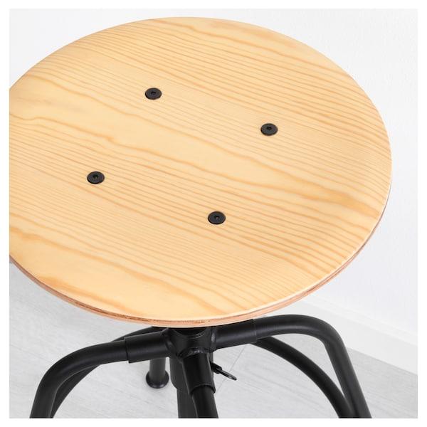 Remarkable Stool Kullaberg Pine Black Machost Co Dining Chair Design Ideas Machostcouk