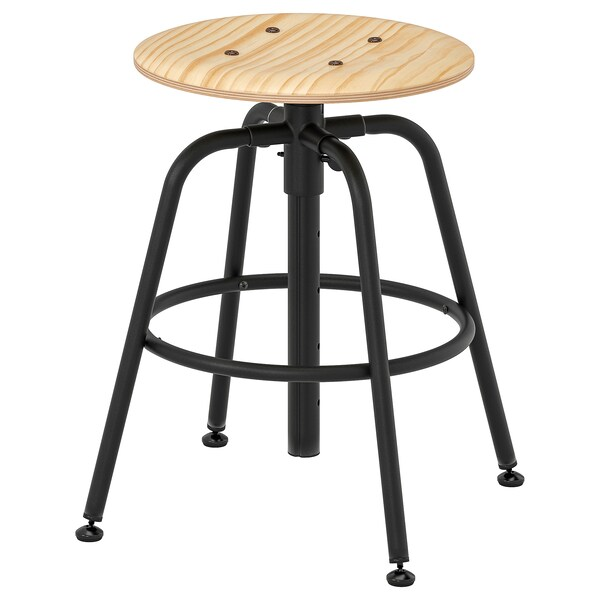 Super Stool Kullaberg Pine Black Short Links Chair Design For Home Short Linksinfo