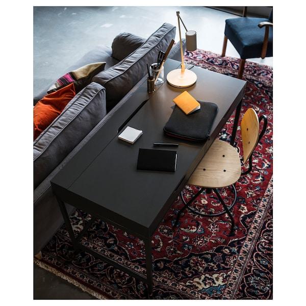KULLABERG Swivel chair, pine/black