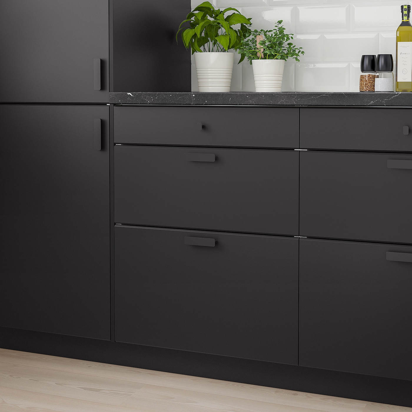 KUNGSBACKA Drawer front, anthracite, 30x15 ""