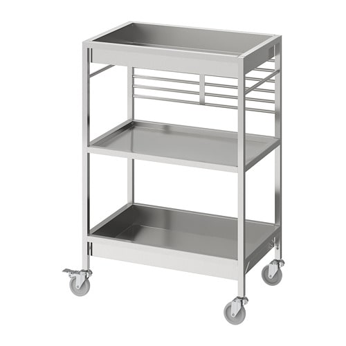 Kungsfors Kitchen Cart Stainless Steel