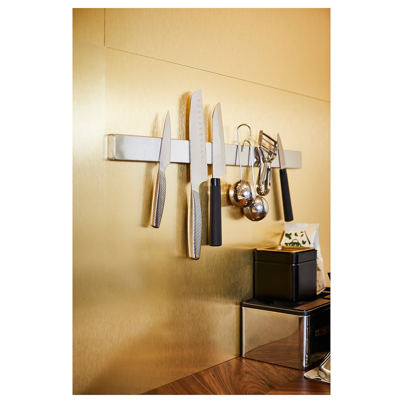 KUNGSFORS Magnetic knife rack, stainless steel