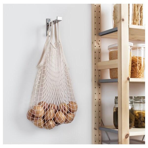 KUNGSFORS mesh bag, set of 2 natural 2 pieces