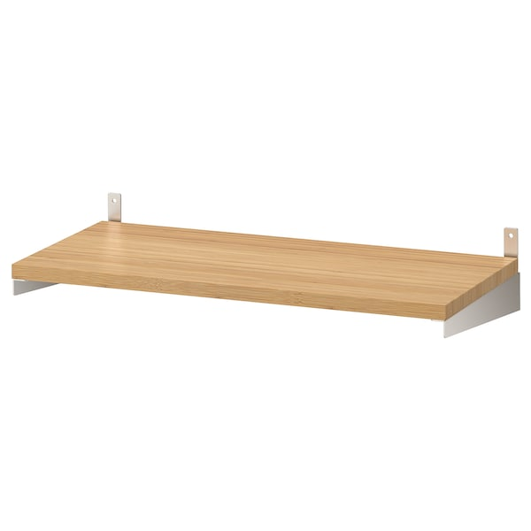 "KUNGSFORS shelf bamboo 23 5/8 "" 11 3/4 "" 3/4 "" 49 lb"