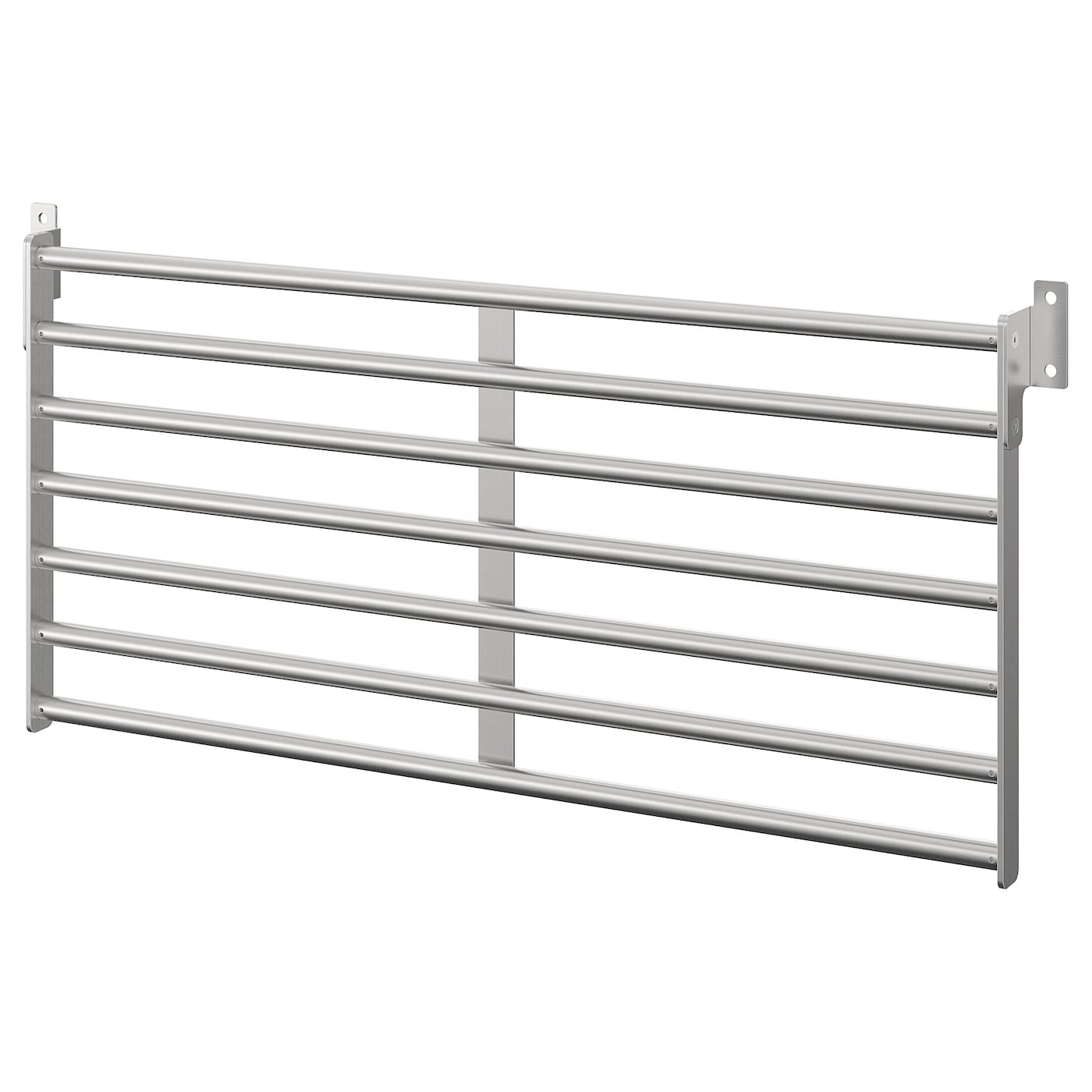 KUNGSFORS - Wall rack, stainless steel