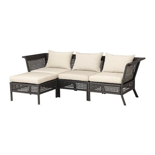 KUNGSHOLMEN Sofa With Footstool, Outdoor