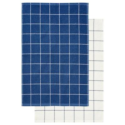 "KUNGSKAKTUS Dish towel, check pattern/dark blue/white, 16x24 """