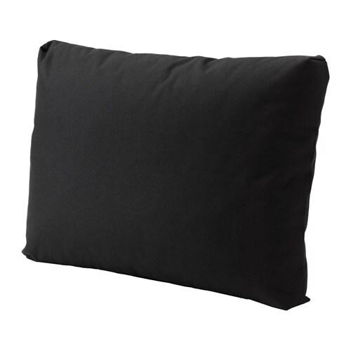 KUNGSÖ Back cushion, outdoor, black black 24 3/8x17 3/8
