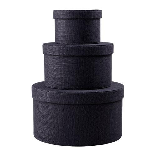 Ikea Kvarnvik Dark Blue Circle Hat Box Clothes Office