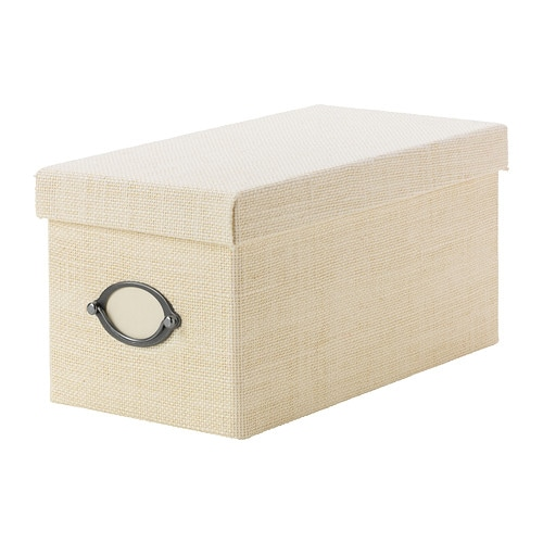 KVARNVIK Box with lid IKEA This box is perfect for storing your CDs, games, chargers or desk accessories.