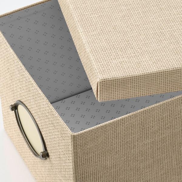 "KVARNVIK Storage box with lid, beige, 9 ¾x13 ¾x7 ¾ """