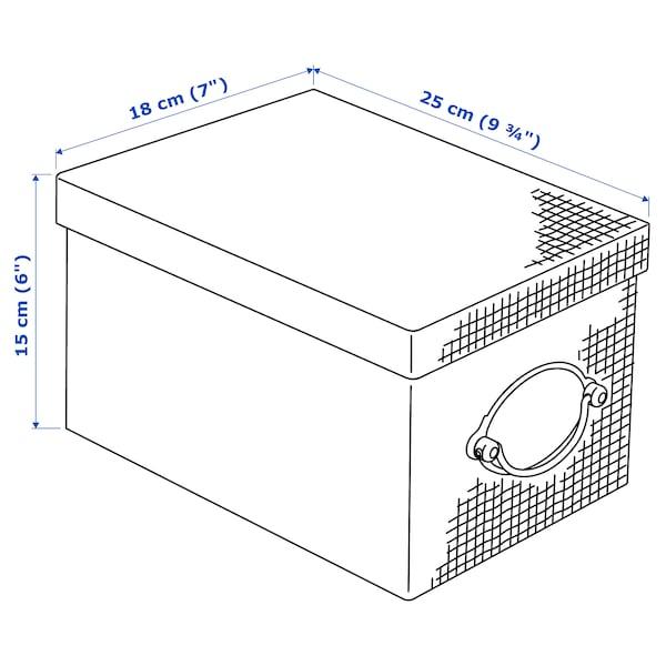 "KVARNVIK Storage box with lid, gray, 7x9 ¾x6 """