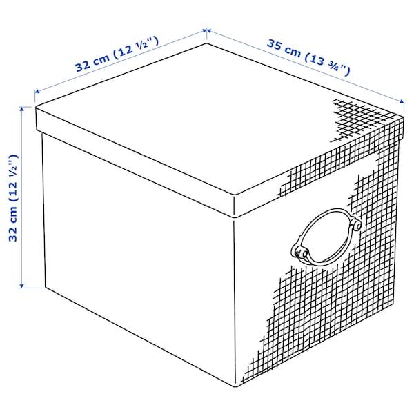 "KVARNVIK Storage box with lid, gray, 12 ½x13 ¾x12 ½ """
