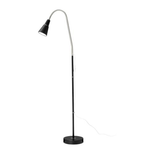 Kvart floor reading lamp black ikea for Ikea antifoni floor reading lamp silver color