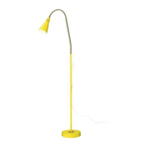 Ikea Kvart Floor Reading Lamp Yellow Red White Black