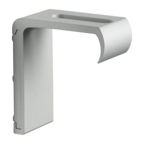 KVARTAL Wall hardware IKEA For mounting KVARTAL track rail to the wall.   A sleek look without visible screws.