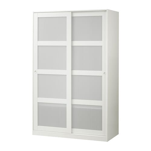Kvikne wardrobe with 2 sliding doors ikea for Armoire portes coulissantes