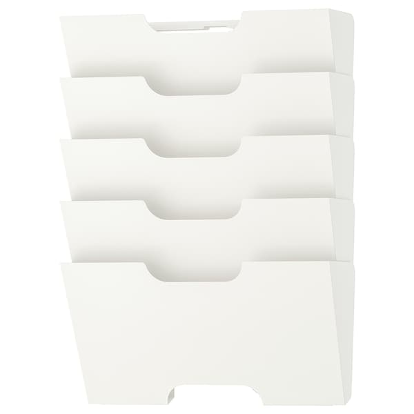 KVISSLE Wall magazine rack, white