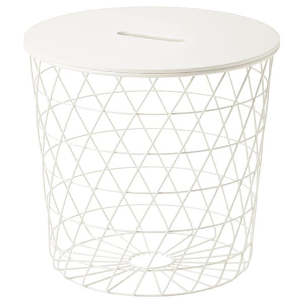 """KVISTBRO Storage table, white, 17 3/8 """""""