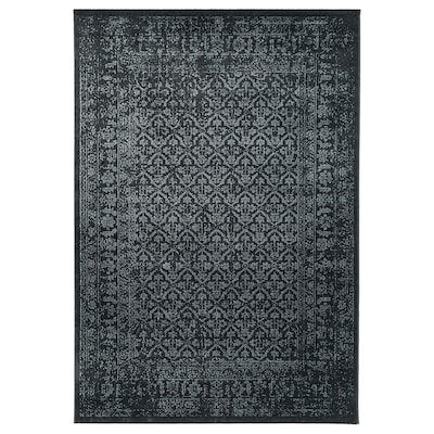 "KYNDBY Rug, low pile, gray antique look/floral patterned, 6 ' 7 ""x9 ' 10 """