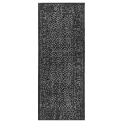 """KYNDBY Rug, low pile, gray antique look/floral patterned, 2 ' 7 """"x6 ' 7 """""""