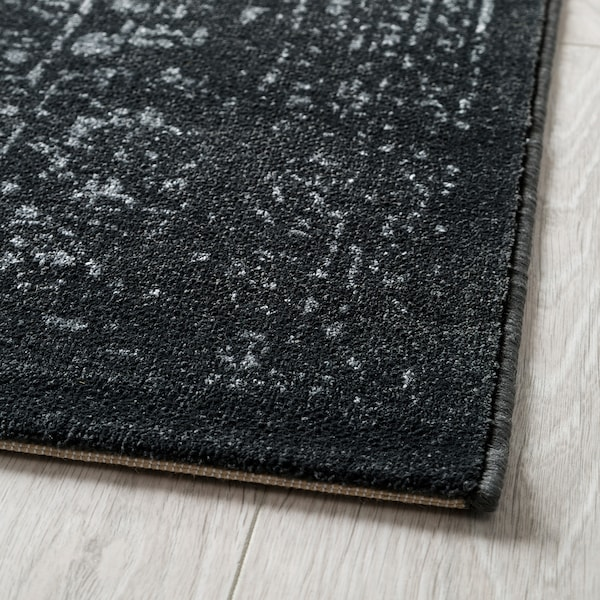 Kyndby Rug Low Pile Gray Antique Look
