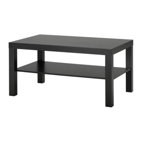 Lack coffee table black brown 35 3 8x21 5 8 ikea - Table basse noire ikea ...