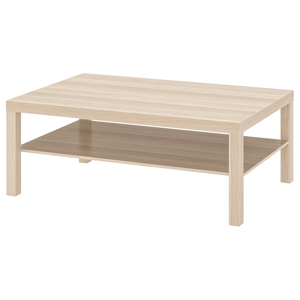 LACK Coffee table, white stained oak effect, 46 1/2x30 3/4 ""