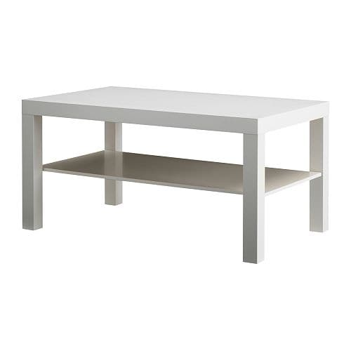 Lack coffee table white 35x22x18 ikea - Table basse escamotable ikea ...